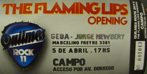 Flaming Lips ticket