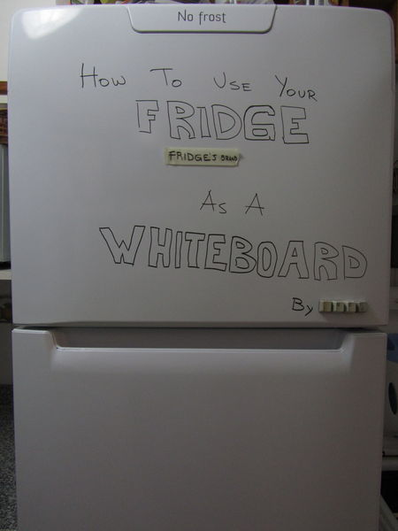How to use your fridge as a whiteboard