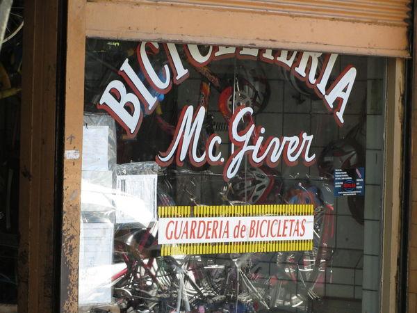Bicicletería Mc. Giver